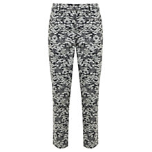 Buy Mint Velvet Gia Print Cotton Capri Trousers, Black/White Online at johnlewis.com