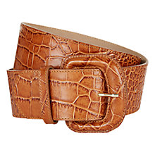 Buy Hobbs Annie Wide Leather Belt Online at johnlewis.com