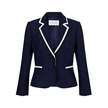 Buy Hobbs Meryl Jacket, Navy/Ivory Online at johnlewis.com