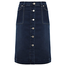 Buy Mint Velvet Denim Button Skirt, Indigo Online at johnlewis.com