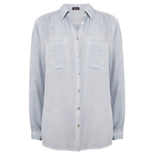 Buy Mint Velvet Sage Split Back Shirt Online at johnlewis.com