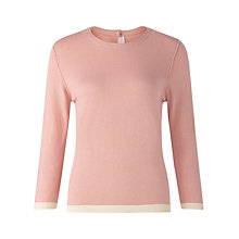 Buy Jigsaw Button Back Tipped Jumper Online at johnlewis.com