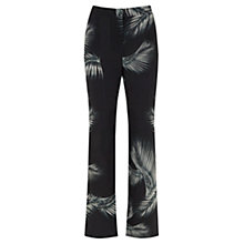 Buy Mint Velvet Kiya Print Soft Flare Trousers, Multi Online at johnlewis.com