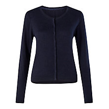 Buy Jigsaw Crew Neck Cotton Cashmere Cardigan Online at johnlewis.com