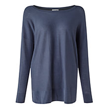 Buy Jigsaw Boat Neck Slouchy Jumper, Atlantic Online at johnlewis.com