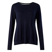 Buy Jigsaw Shirt Underlay Jumper, Navy Online at johnlewis.com