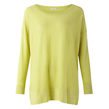 Buy Jigsaw Boat Neck Slouchy Jumper, Green Online at johnlewis.com
