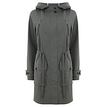 Buy Mint Velvet Hooded Parka, Khaki Green Online at johnlewis.com
