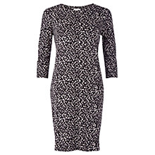 Buy Jigsaw Wood Chip Print T-Shirt Dress, Black Online at johnlewis.com