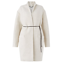 Buy Jigsaw Belted Cocoon Coat, Ivory Online at johnlewis.com