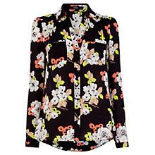 Buy Oasis Eide Floral Shirt, Multi/Black Online at johnlewis.com