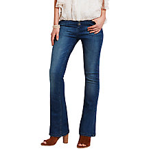Buy Mint Velvet Button Front Flare Jeans, Blue Online at johnlewis.com