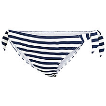 Buy Fat Face Breton Stripe Tie Side Bikini Bottoms, Navy/Cream Online at johnlewis.com