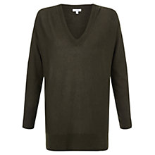 Buy Jigsaw V-Neck Cotton Slouchy Jumper Online at johnlewis.com