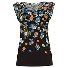 Buy Oasis Scatter Edie Floral Frill T-Shirt, Multi Online at johnlewis.com