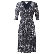 Buy Jigsaw Artisan Spot Fit and Flare Dress, Navy Online at johnlewis.com