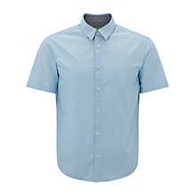 Buy BOSS Green Busterino Shirt, Medium Blue Online at johnlewis.com
