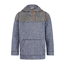 Buy John Lewis Boys' Panelled Overhead Hoodie, Navy/Grey Online at johnlewis.com