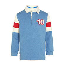 Buy John Lewis Boys' Arm Panel Rugby Top, Blue/White Online at johnlewis.com