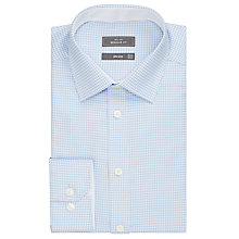 Buy John Lewis Non Iron Puppytooth Regular Fit Shirt Blue/White Online at johnlewis.com