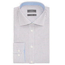 Buy John Lewis Easy Care Four Dot Tailored Fit Shirt, White/Navy Online at johnlewis.com