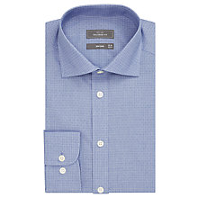 Buy John Lewis Non Iron Mini Square Tailored Fit Shirt, Navy/White Online at johnlewis.com
