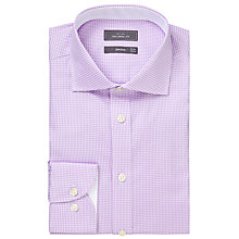Buy John Lewis Luxury Houndstooth Tailored Fit Shirt, Lilac/White Online at johnlewis.com