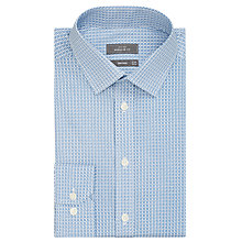 Buy John Lewis Easy Care Ditsy Flower Print Regular Fit Shirt, Blue/White Online at johnlewis.com