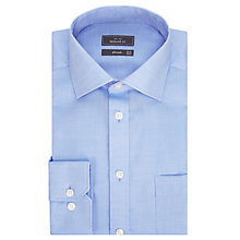 Buy John Lewis Non Iron Twill Regular Fit XL Sleeve Shirt, Blue Online at johnlewis.com