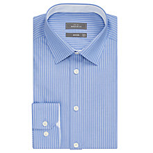 Buy John Lewis Non Iron Stripe Regular Fit Shirt, Blue/White Online at johnlewis.com