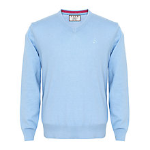 Buy Thomas Pink Horseley V-Neck Jumper, Pale Blue Online at johnlewis.com