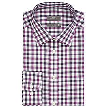 Buy John Lewis Non Iron Bold Check Regular Fit Shirt, Berry/Navy Online at johnlewis.com