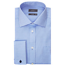 Buy John Lewis Non Iron Twill Double Cuff Regular Fit Shirt, Blue Online at johnlewis.com