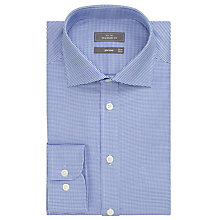 Buy John Lewis Non Iron Mini Chevron Tailored Fit Shirt, Navy/White Online at johnlewis.com