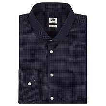Buy Kin by John Lewis Gabe Broken Square Slim Fit Shirt, Navy Online at johnlewis.com