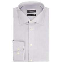Buy John Lewis Non Iron Dobby Tailored Fit Shirt, Light Grey Online at johnlewis.com