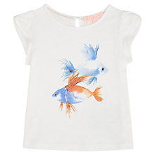 Buy Jigsaw Girls' Tropical Fish Print T-Shirt, White Online at johnlewis.com
