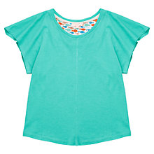 Buy Jigsaw Girls' Jersey Waterfall T-Shirt, Green Online at johnlewis.com