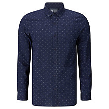 Buy JOHN LEWIS & Co. Ditsy Stitch Shirt, Indigo Online at johnlewis.com