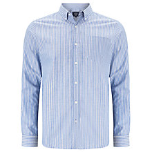 Buy John Lewis Striped Oxford Long Sleeve Shirt, Blue/White Online at johnlewis.com