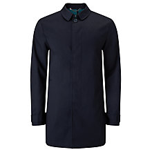 Buy Kin by John Lewis Bonded Cotton Mac, Navy Online at johnlewis.com