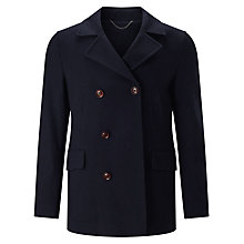 Buy John Lewis Premium Knitted Reefer Jacket, Navy Online at johnlewis.com
