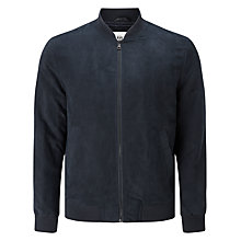 Buy Kin by John Lewis Suedette Bomber Jacket, Navy Online at johnlewis.com