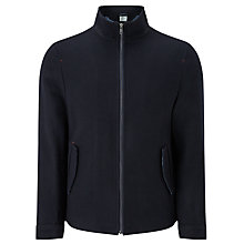 Buy John Lewis Wool Blend Harrington Jacket, Navy Online at johnlewis.com