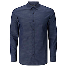 Buy JOHN LEWIS & Co. Horizontal Stripe Shirt, Indigo Online at johnlewis.com
