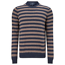 Buy John Lewis Cotton Cashmere Striped Jumper, Navy Online at johnlewis.com