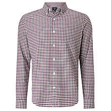 Buy John Lewis Oxford Bi Colour Gingham Shirt, Wine Online at johnlewis.com
