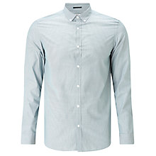 Buy Kin by John Lewis Micro Stripe Slim Fit Shirt, Green Online at johnlewis.com