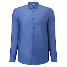 Buy Kin by John Lewis Herringbone Party Shirt, Blue Online at johnlewis.com