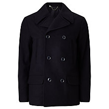 Buy Kin by John Lewis Wool Blend Pea Coat, Navy Online at johnlewis.com